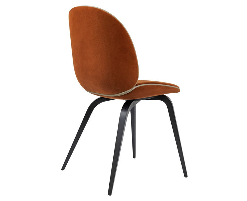 Upholstered Beetle Dining Chair - Wood Legs by Gubi | DSHOP