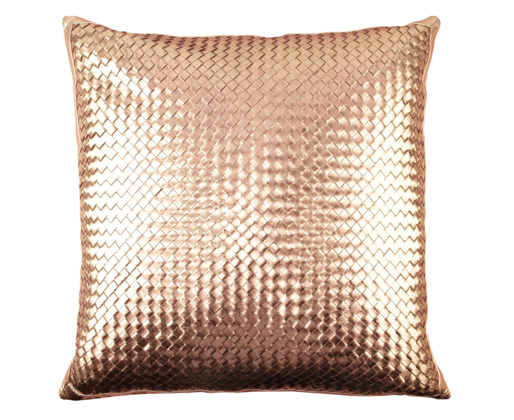 Bling Antique Gold Leather Pillow