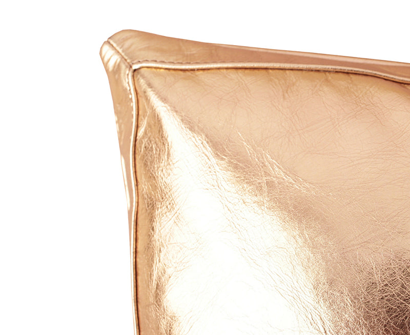 Metalic Bling Antique Gold Leather Pillow
