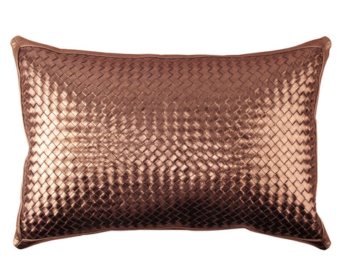 Bling Bronze Leather Pillow
