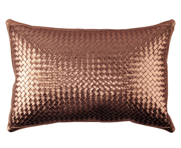 Bling Bronze Leather Pillow - Lance Wovens