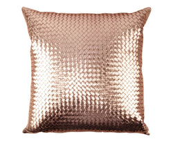 Bling Copper Gold Leather Pillow