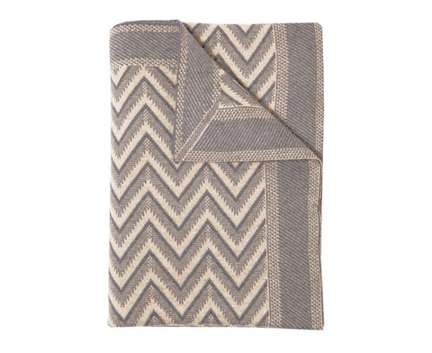 Cashmere Dillon Throw - Beige & Gray