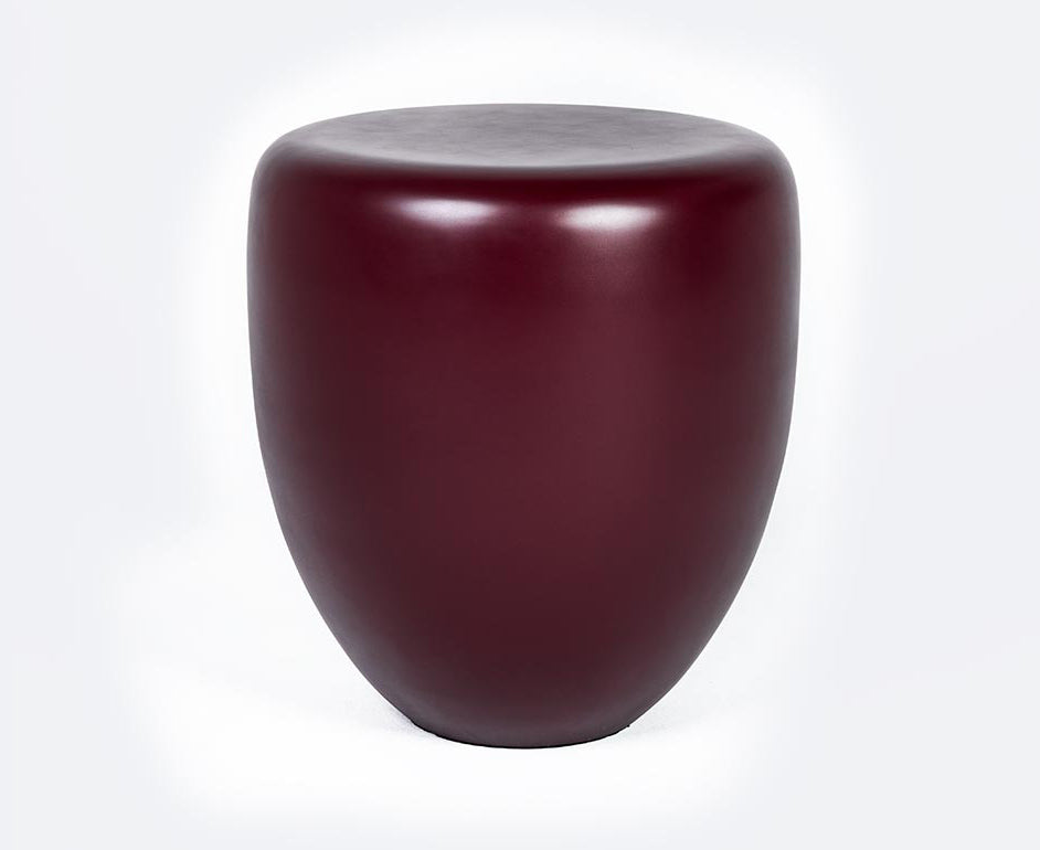 Dot Table Stool - Deep Garnet Matte