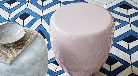Dot Table Stool - White Eggshell