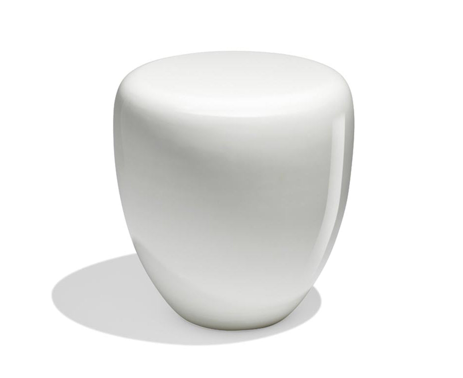 Dot Table Stool - Milky White Matte