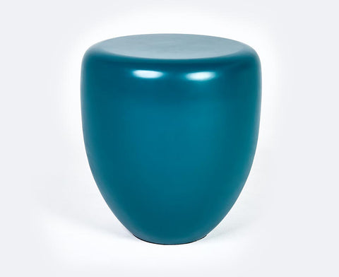 Dot Table Stool - Peacock Blue Matte