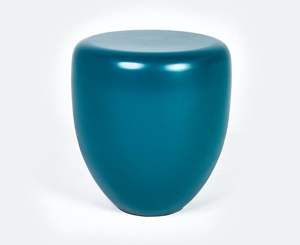 Dot Table Stool - Peacock Blue Matte | DSHOP