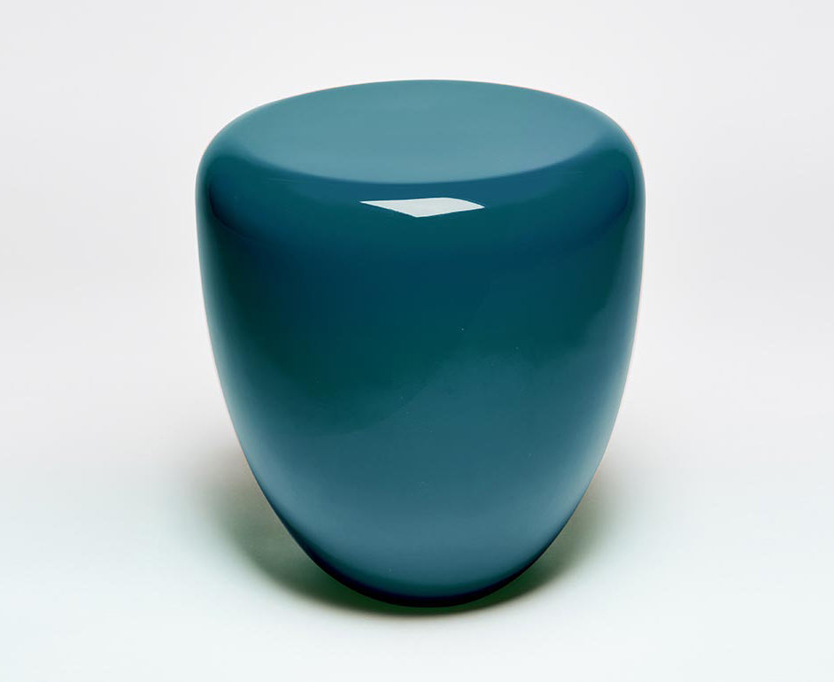 Dot Table Stool - Peacock Blue