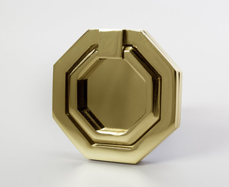 Facet-03 Pull - Polished Brass
