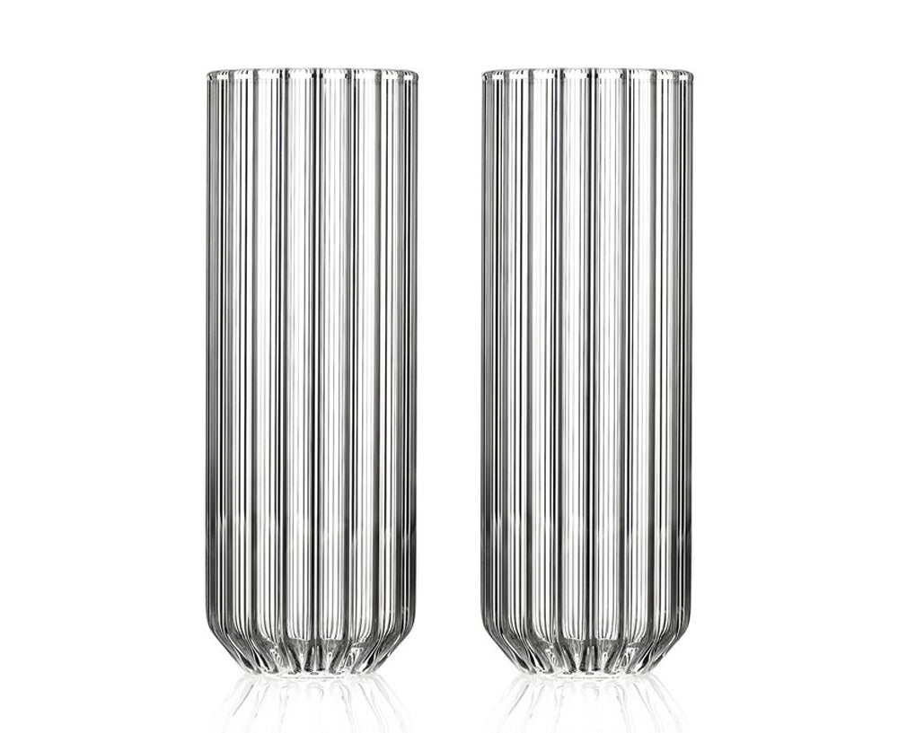 Fluted Dearborn Collins Glasses