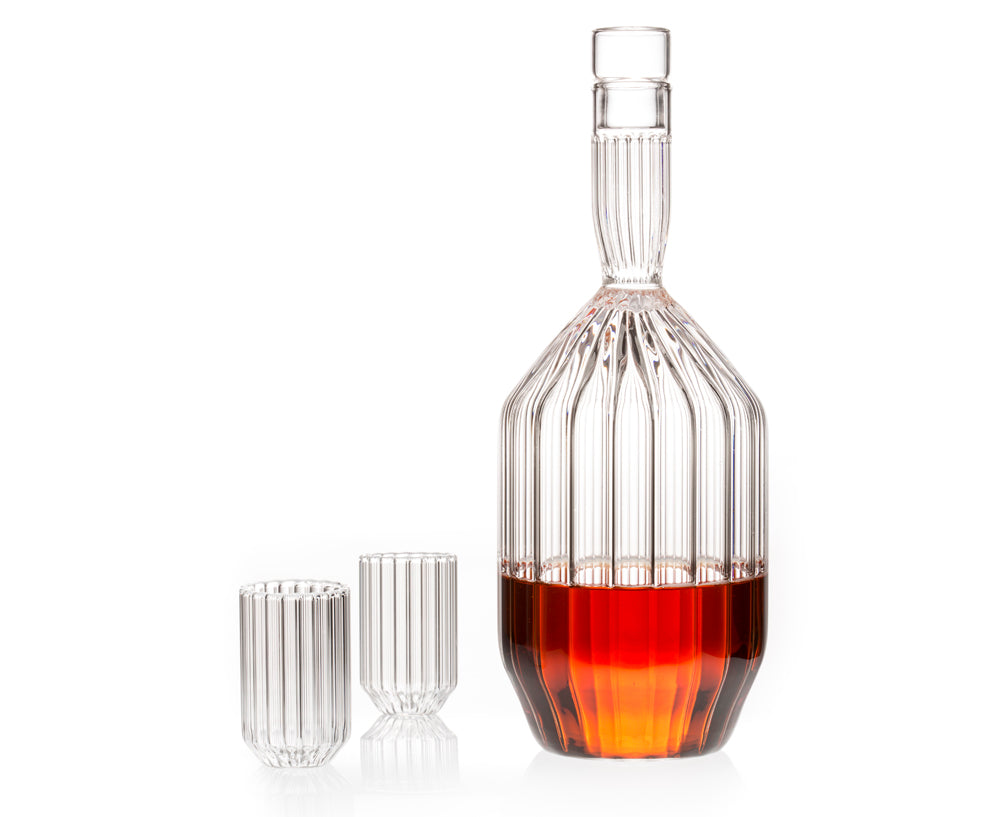 Handblown Margot Decanter & Glasses