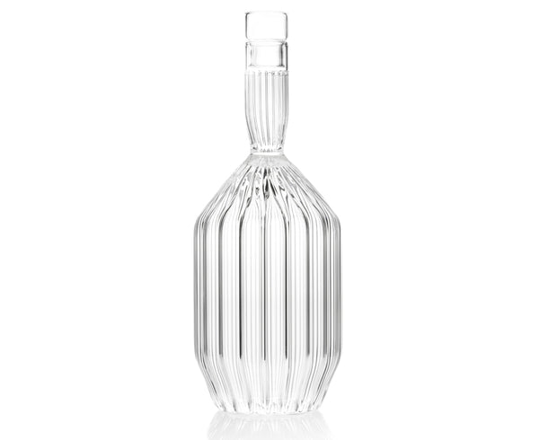 Margot Decanter in fluted boroscilicate glass