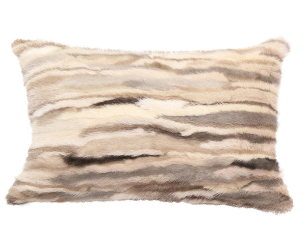 Venezia Fur Pillow - Beige Brown by Rani Arabella | DSHOP