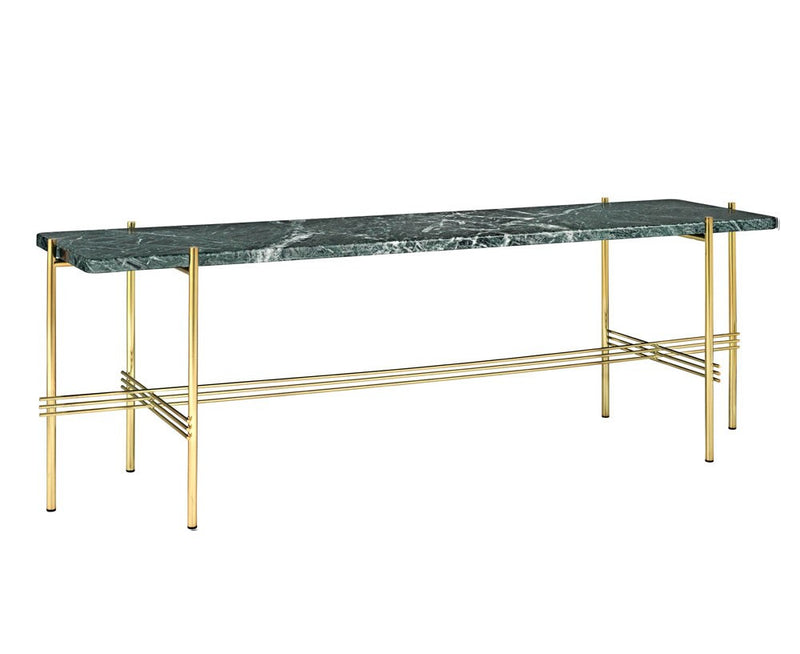 TS Console - 1 Rack - Green Marble & Brass | DSHOP