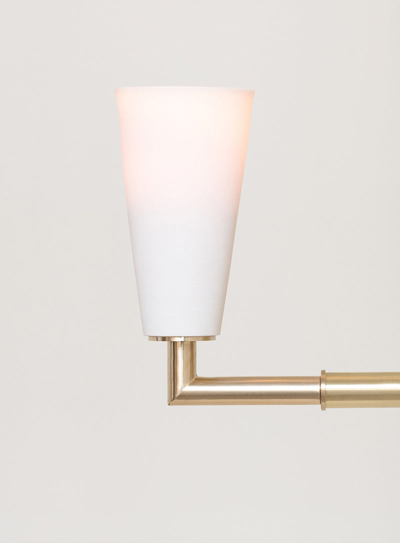 Grace Wall Sconce in Porcelain & Brass