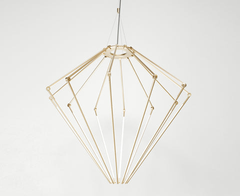 Thin Chandelier - Satin Brass