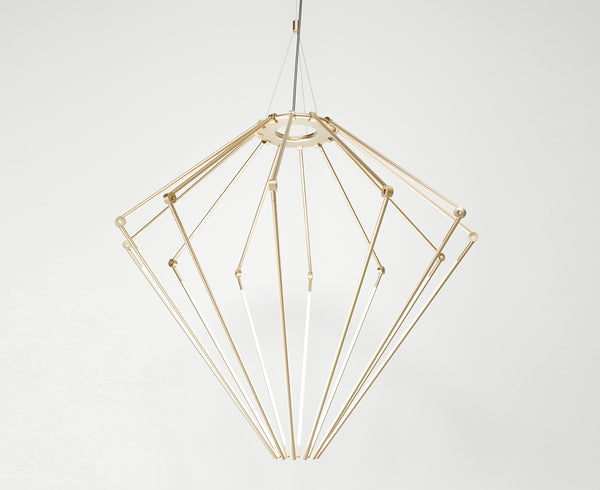Thin Chandelier - Satin Brass | DSHOP