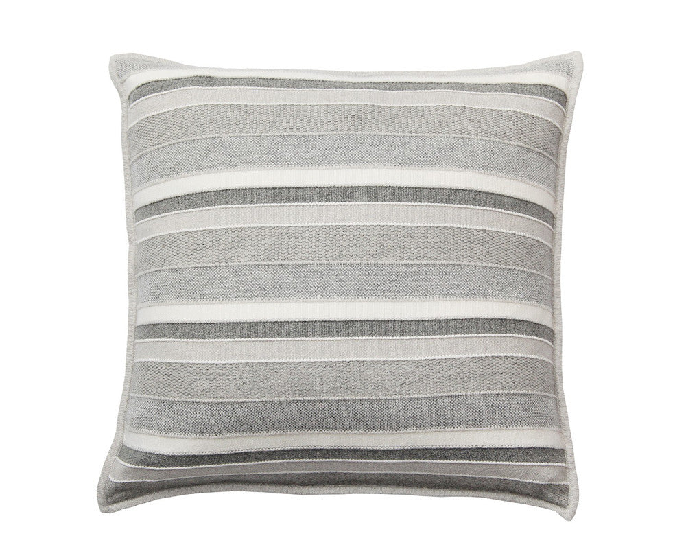 Cashmere Kent Pillow - Pearl, Gray, Ivory