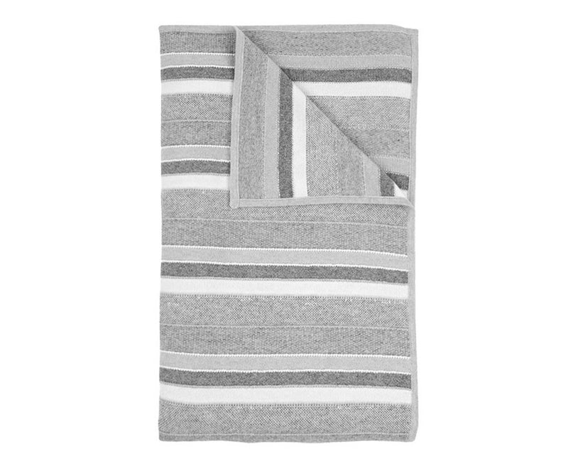Cashmere Kent Throw - Pearl Gray Ivory