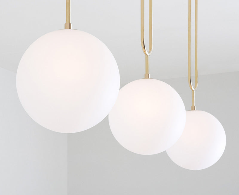 Koko Fixed Pendant Lighting - Brushed Brass