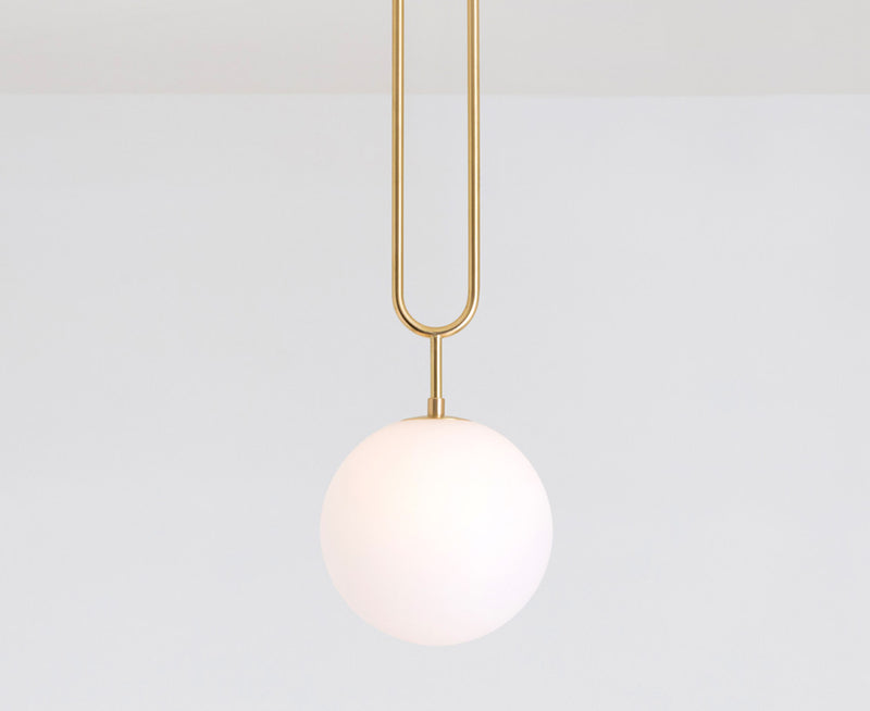 Koko Fixed Pendant Light - Brushed Brass