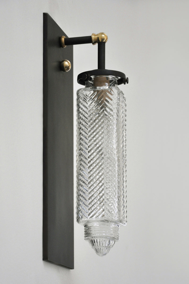 Vintage Glass Chrysler Sconce | DSHOP