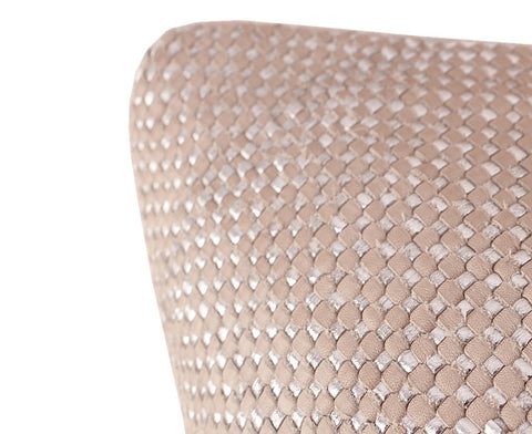 Mini Bling Clay Silver Leather Pillow