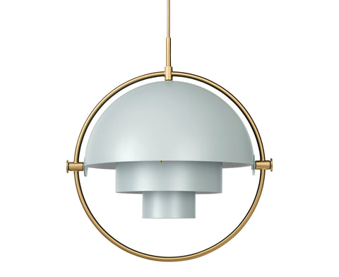 Multi-Light Pendant - Brass/Sea Grey