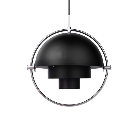 Multi-Light Pendant - Chrome/Charcoal Black