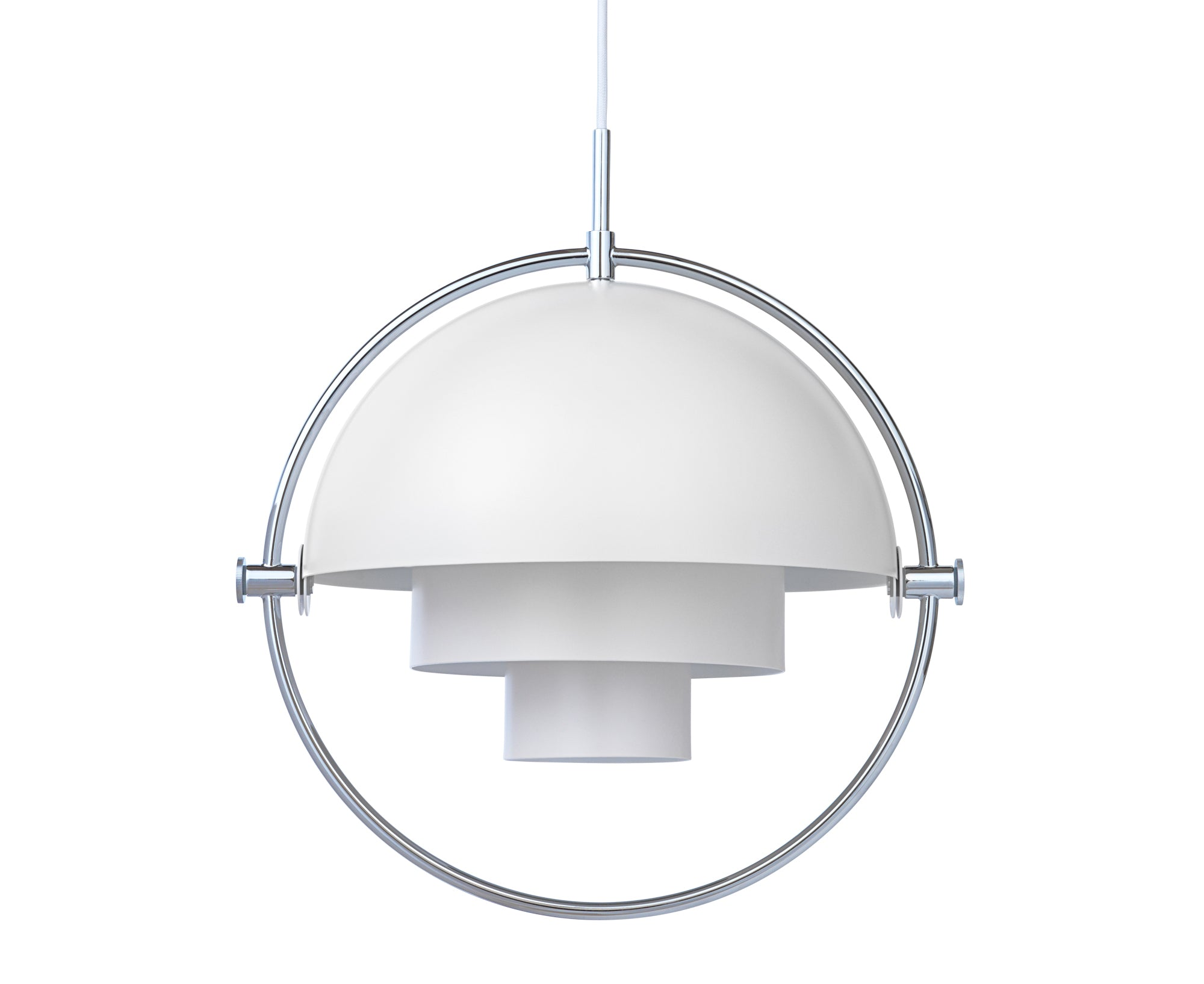 Multi-Light Pendant - Chrome/White