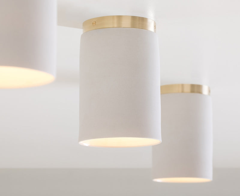 Surface Ceiling Light in Porcelain & Brass | DSHOP
