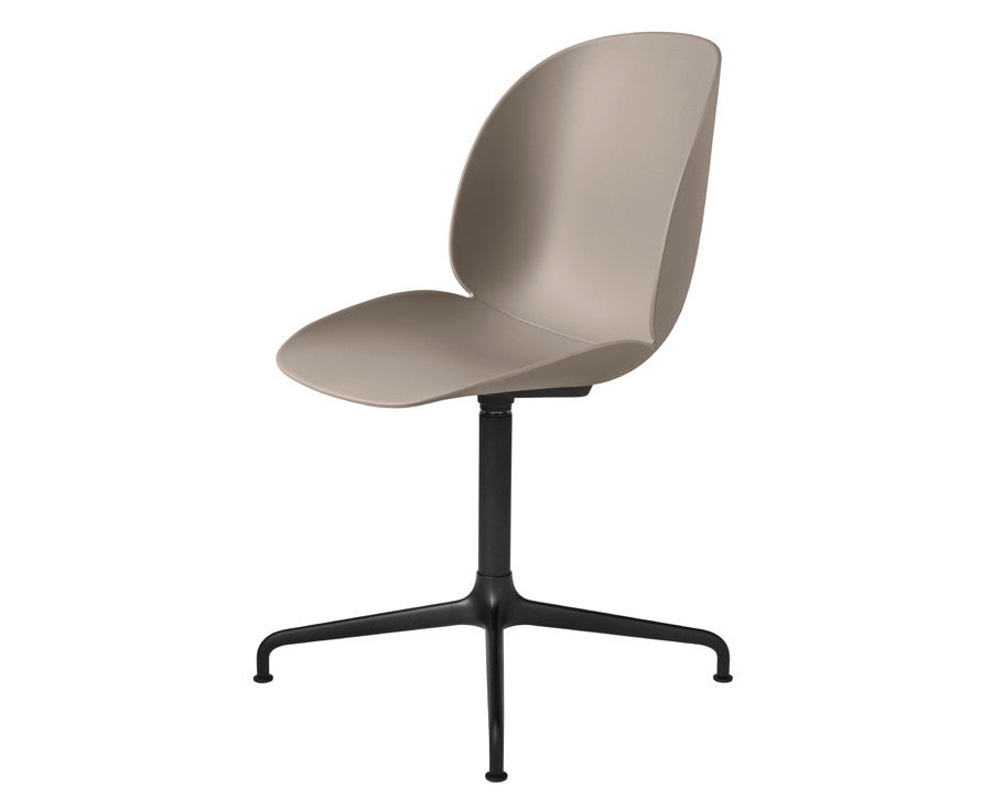 New Beige Gubi Beetle Dining Chair - Casted Swivel Base | DSHOP