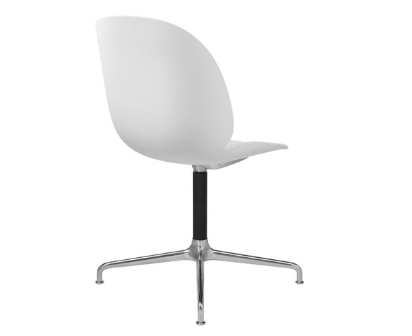 White Gubi Beetle Dining Chair - Casted Swivel Base | DSHOP