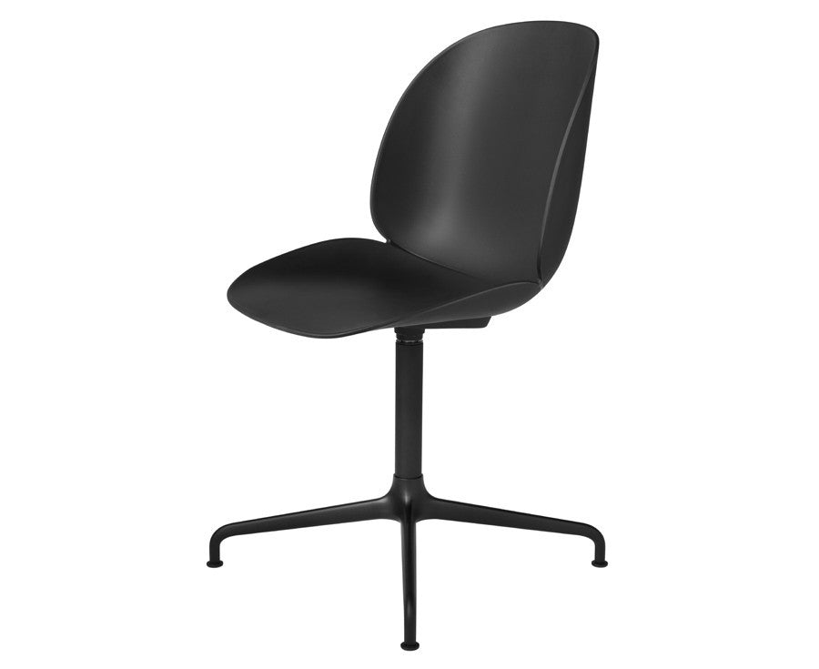 Black Gubi Beetle Dining Chair - Casted Swivel Base | DSHOP