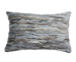 Venezia Fur Pillow - Grey Blue | DSHOP