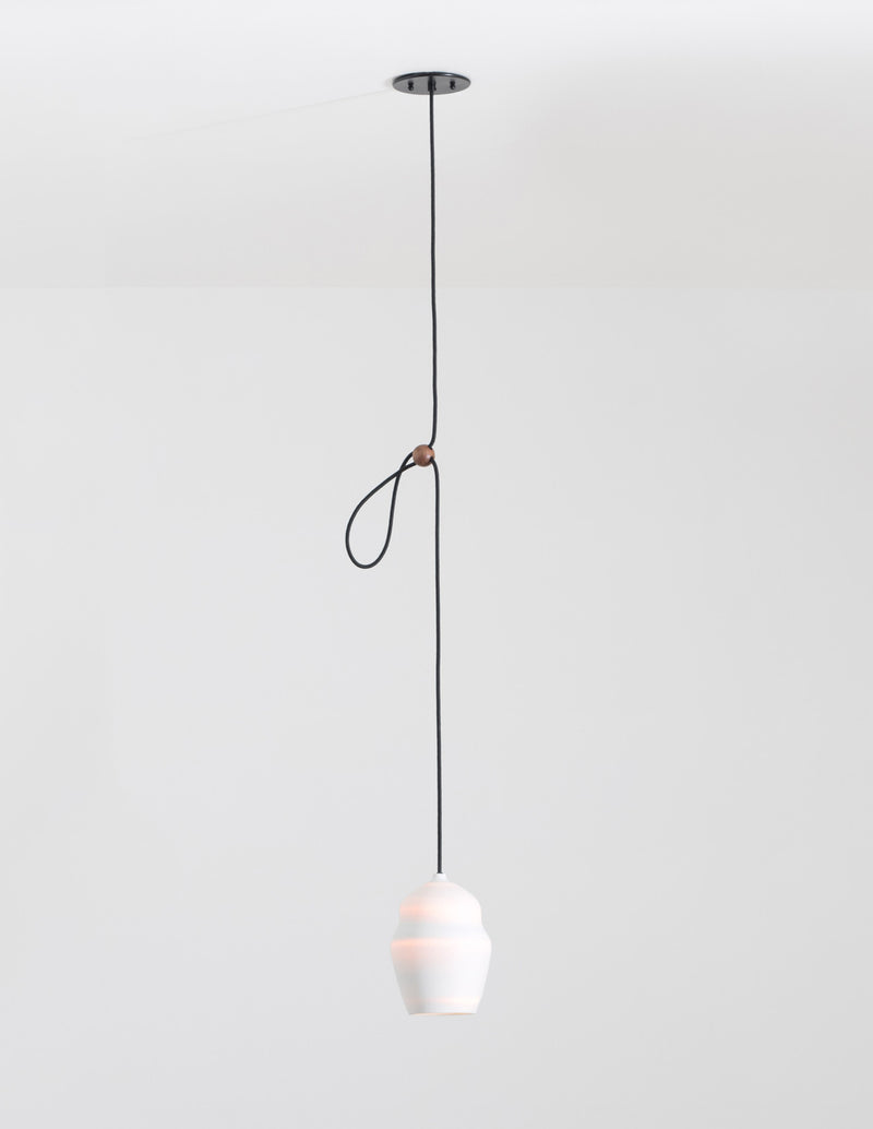White Porcelain Vessel Pendant Light | DSHOP