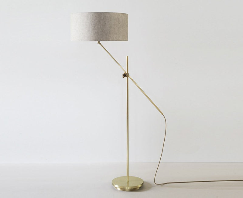 Industrial Shaded Brass Floor Lamp by Workstead | DSHOP