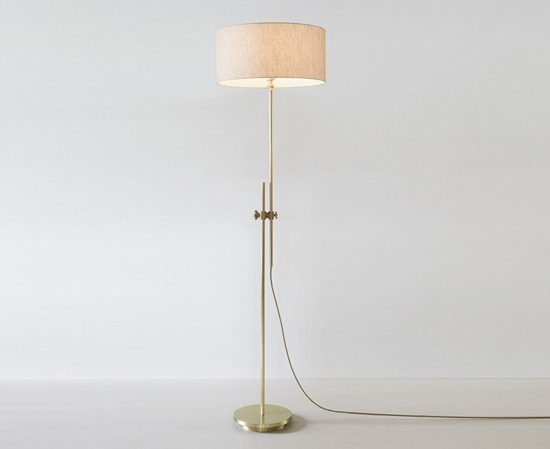 Shaded Brass Floor Lamp by Workstead | DSHOP