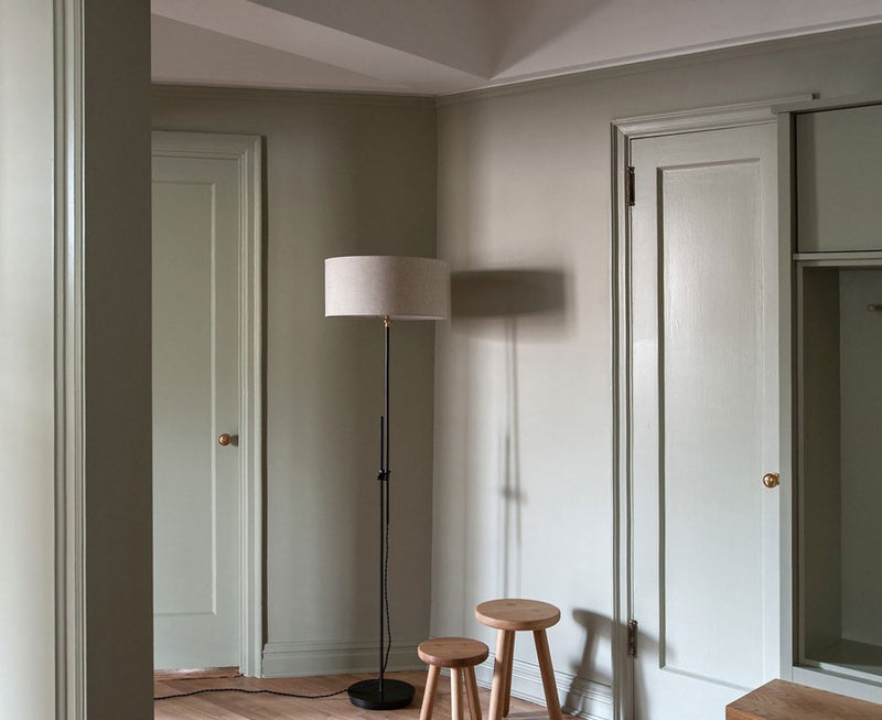 Shaded Brass Floor Lamp | DSHOP