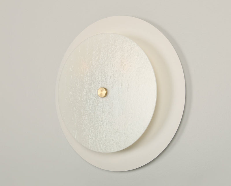 Round Glass Sconce - Off White | DSHOP