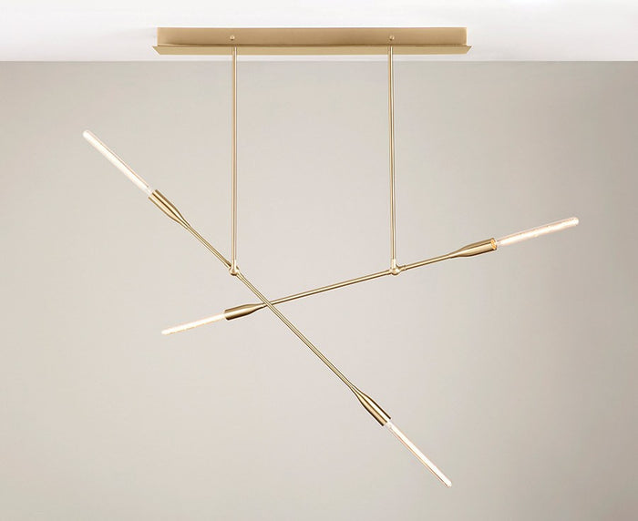 Dunn Sorenthia Double Chandelier in Brushed Brass | DSHOP
