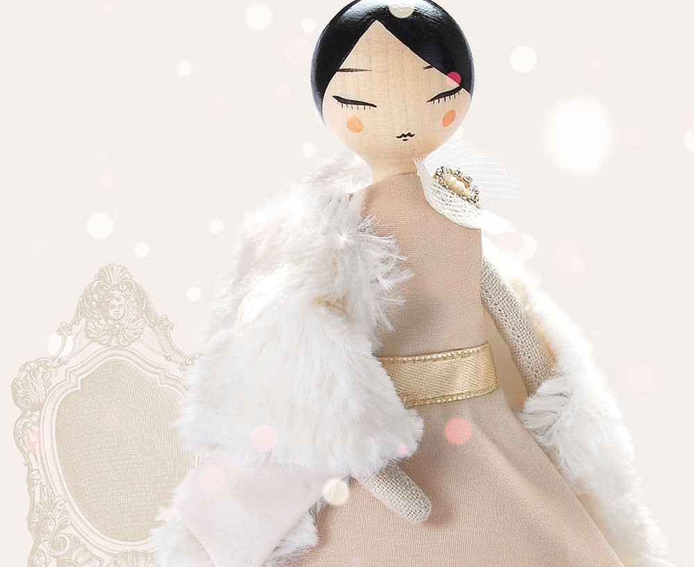 Emma Party Doll & Fur Stole