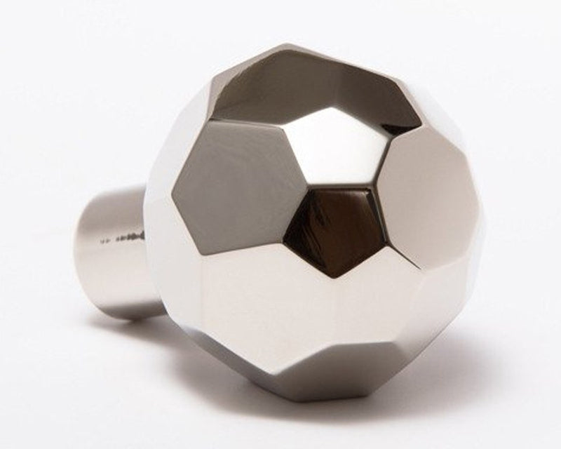 Facet-02 Knob - Polished Nickel