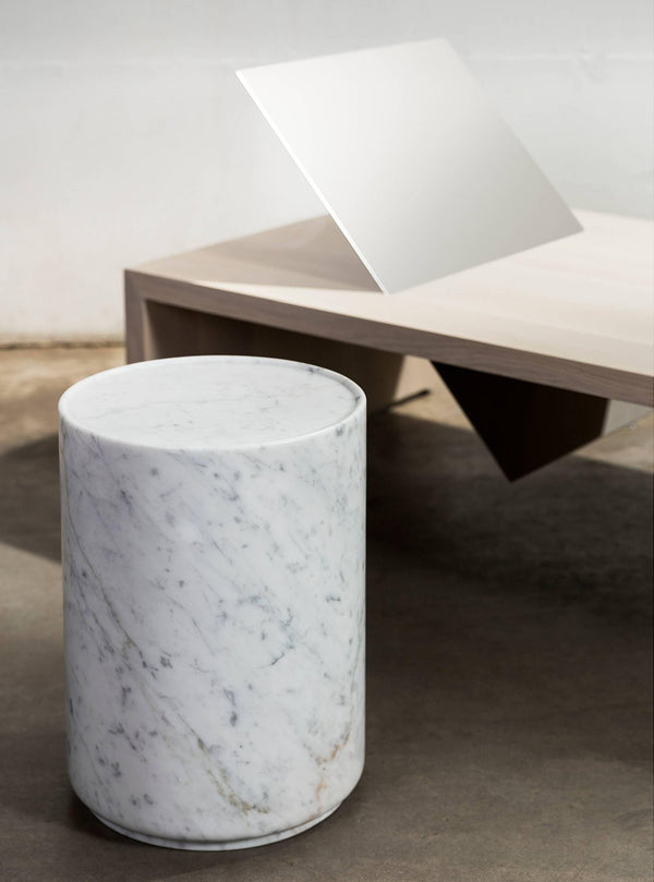 Carrara Marble Drum Table | DSHOP