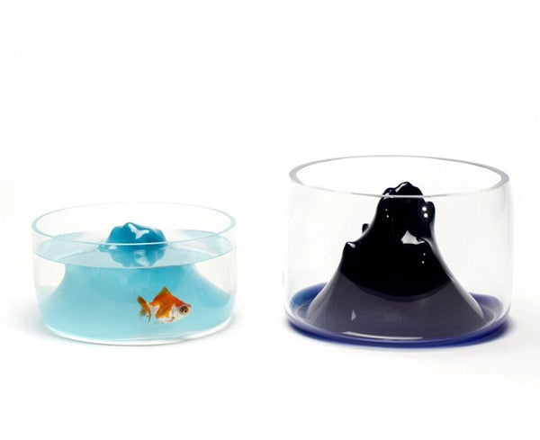 Handblown Glass Space Mountain Fishbowl | DSHOP