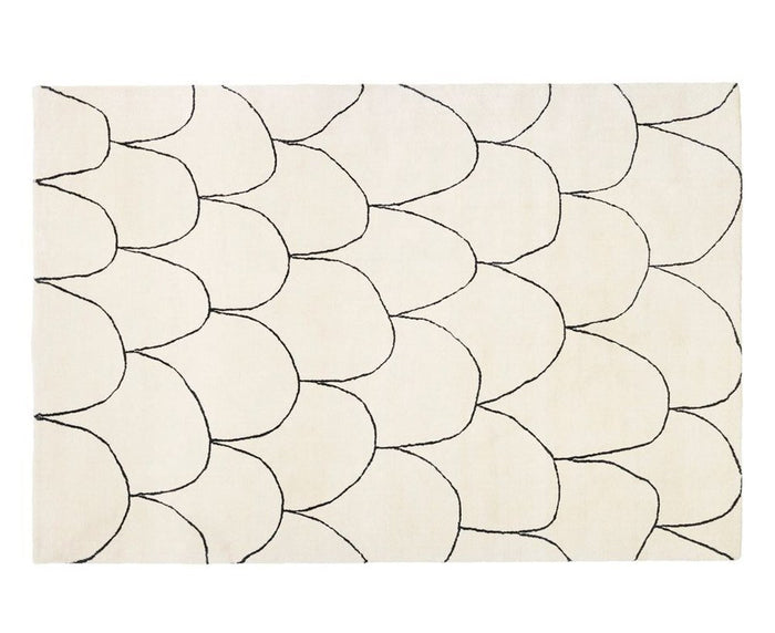 Fish Platinum Rug by Thomas Sandell for Asplund