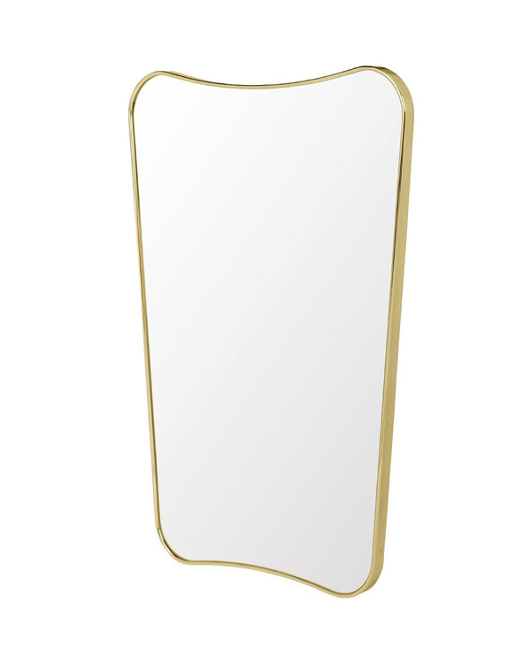 Gio Ponti F.A. 33 Rectangular Brass Wall Mirror | DSHOP