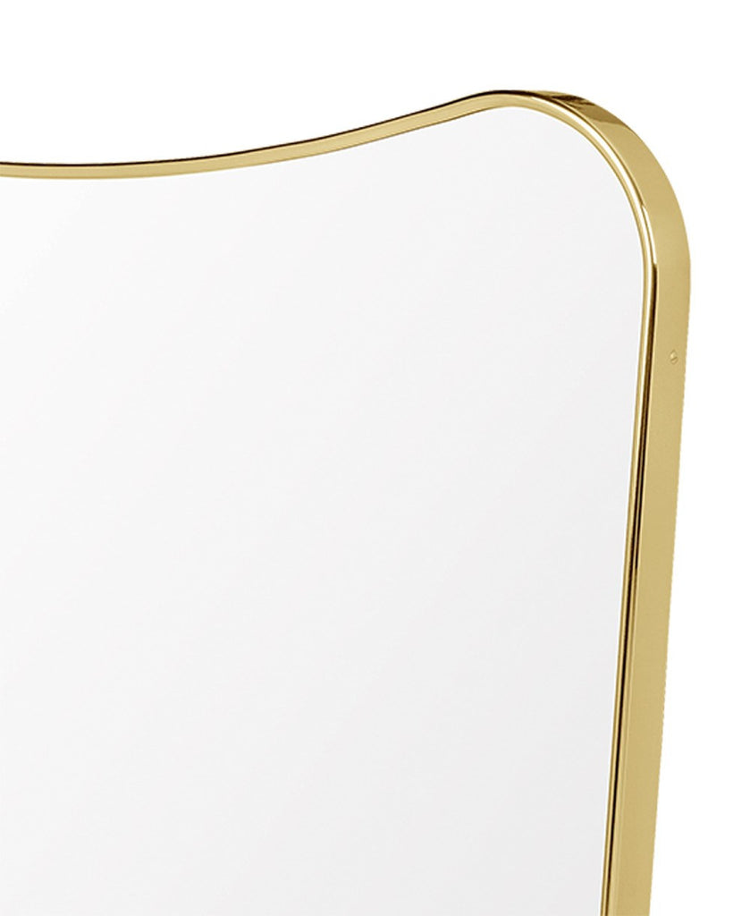 Gio Ponti F.A. 33 Rectangular Wall Mirror | Polished Brass