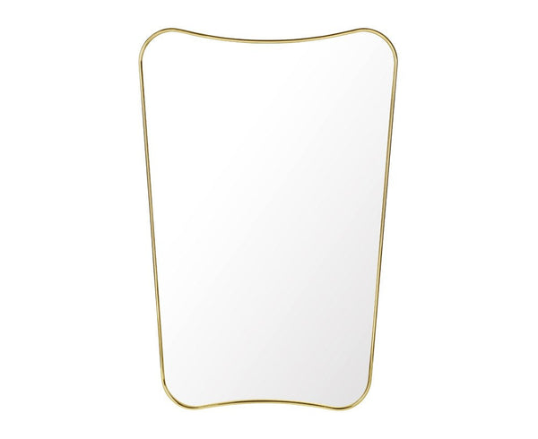 F.A. 33 Rectangular Wall Mirror - Brass - Half Length